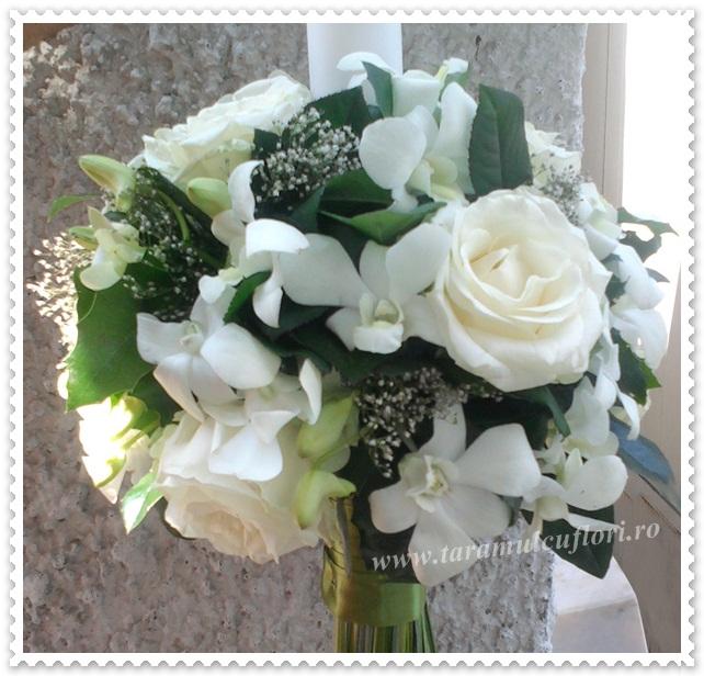 Lumanari de nunta -trandafiri si orhidee.0624